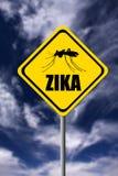 Advertencia de Zika Imagen de archivo libre de regalías