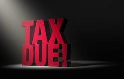 Advertencia debida del impuesto Imagen de archivo