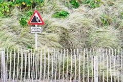 Advertencia del acantilado Imagen de archivo