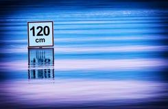 Advertencia del agua profunda Foto de archivo