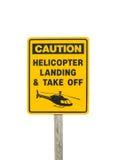 Advertencia del helicóptero Foto de archivo libre de regalías