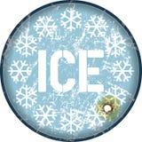 Advertencia del hielo Fotos de archivo
