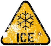 Advertencia del hielo Fotografía de archivo