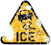 Advertencia del hielo Fotografía de archivo libre de regalías