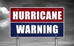 Advertencia del huracán Foto de archivo libre de regalías