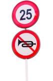 Advertencia del límite no audible y velocidad Fotografía de archivo libre de regalías