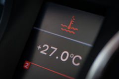 Advertencia del líquido refrigerador del coche Fotos de archivo