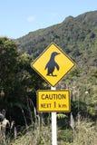 Advertencia del pingüino Foto de archivo libre de regalías