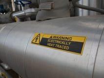 Advertencia del rastro del calor Imagen de archivo