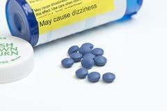 Advertencia del sulfato de la morfina Fotografía de archivo libre de regalías