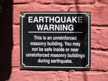 Advertencia del terremoto Imagen de archivo