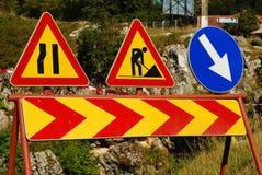 Advertencia del tráfico Imagenes de archivo