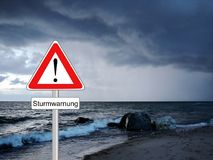 Advertencia del viento de tormenta del tiempo Fotos de archivo libres de regalías