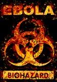 Advertencia del virus de Ebola Foto de archivo libre de regalías