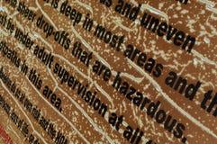 Advertencia deteriorada del premisis Imagen de archivo libre de regalías