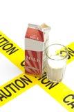 Advertencia dietética, intolerancia a la lactosa de la advertencia de la alergia Imagen de archivo