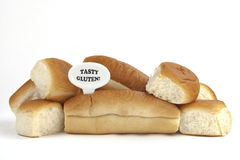 Advertencia dietética o advertencia de la alergia del gluten/del trigo Fotos de archivo libres de regalías