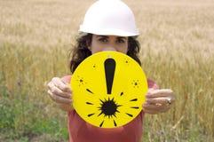 Advertencia: Equipo de la protección necesario Imagen de archivo libre de regalías