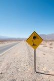 Advertencia lateral del viento Fotografía de archivo libre de regalías