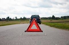 Advertencia roja Fotografía de archivo