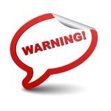 Advertencia roja de la burbuja del elemento Imágenes de archivo libres de regalías