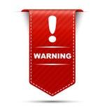 Advertencia roja del diseño de la bandera Fotografía de archivo