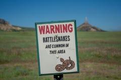 Advertencia - serpientes de cascabel Imagenes de archivo