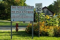 Advertencia severa de la frontera Imagen de archivo libre de regalías