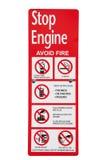 Advertencias de la gasolinera Imagen de archivo