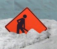 Advertencias de traspaleo de la salud de la nieve Imagen de archivo