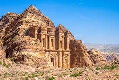 Advertentie Deir het Klooster bij jodan petra, royalty-vrije stock foto