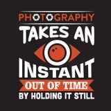 Advertentie voor fotografie stock illustratie