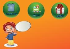 Advertentiesondernemingen royalty-vrije illustratie