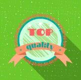 Adverterend etiket, vlak ontwerp, grunge Royalty-vrije Stock Fotografie