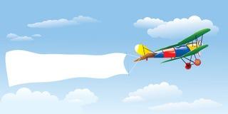 Adverterend Vliegtuig Stock Afbeelding