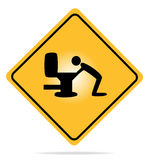 Advertindo, sinal da manutenção. Fotografia de Stock Royalty Free
