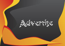 Advertise 4 - layout. Useful for your commercial needs, easy to implement in your projects Royalty Free Stock Images