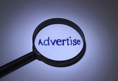 advertise Stockfoto