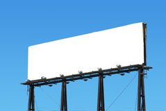 Advertise. A blank bill board for advertising Royalty Free Stock Photos