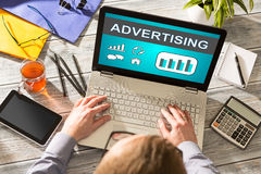 Advertise Advertising Advertisement Branding Commercial Concept Royalty Free Stock Photo