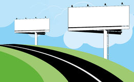 Advertise bilboards Stock Images