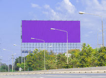 Advertise billboards beside road Royalty Free Stock Images