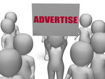 Advertise Board Character Means Product Stock Photography