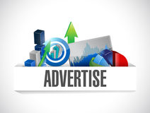 Advertise business illustration design. Over a white background Royalty Free Stock Photos