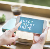 Advertise Commercial Digital Device Marketing Networking Concept.  Royalty Free Stock Images