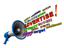 Advertise megaphone words
