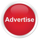 Advertise premium red round button. Advertise isolated on premium red round button abstract illustration Royalty Free Stock Photography