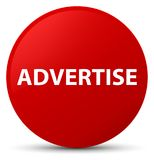 Advertise red round button. Advertise isolated on red round button abstract illustration Royalty Free Stock Photography