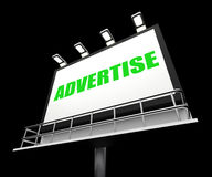 Advertise Sign Represents Promotion and Stock Photo