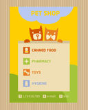 Advertise store for pets. Icons for pet shop Royalty Free Stock Image